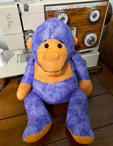 Gorilla Pattern sewn by BetsyChristman