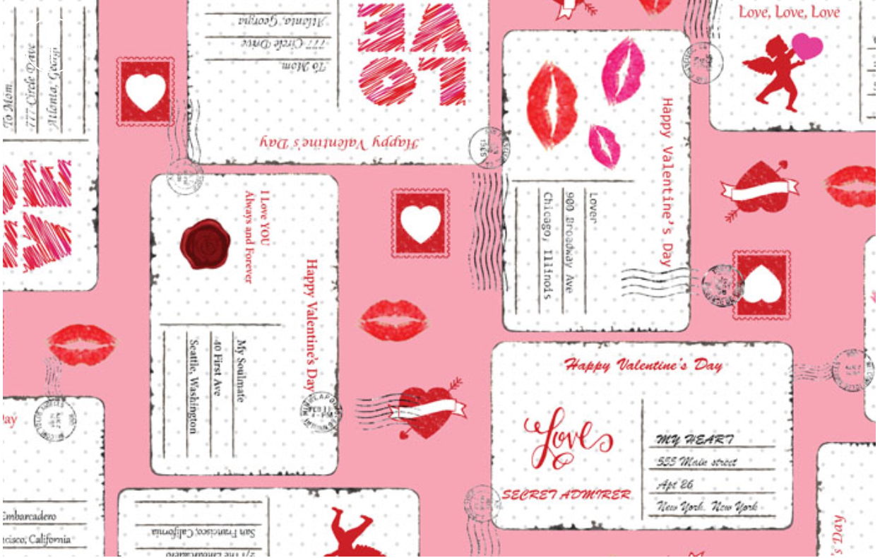 Shannon fabrics Valentine projects letter fabric