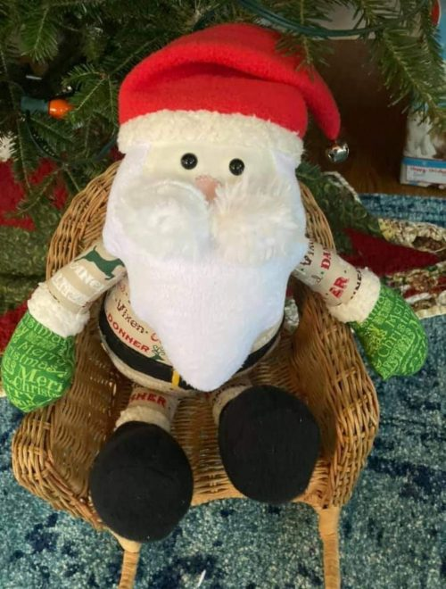 Santa sewn by Karen long