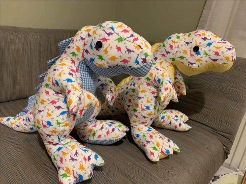 T Rex sewn by Diane outtrim