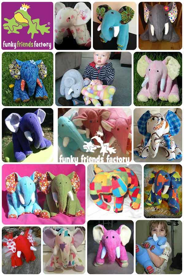 Elephant Stuffed Toy Pattern - Happy customer photos