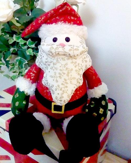 Santa Pattern sewn by by Liz m