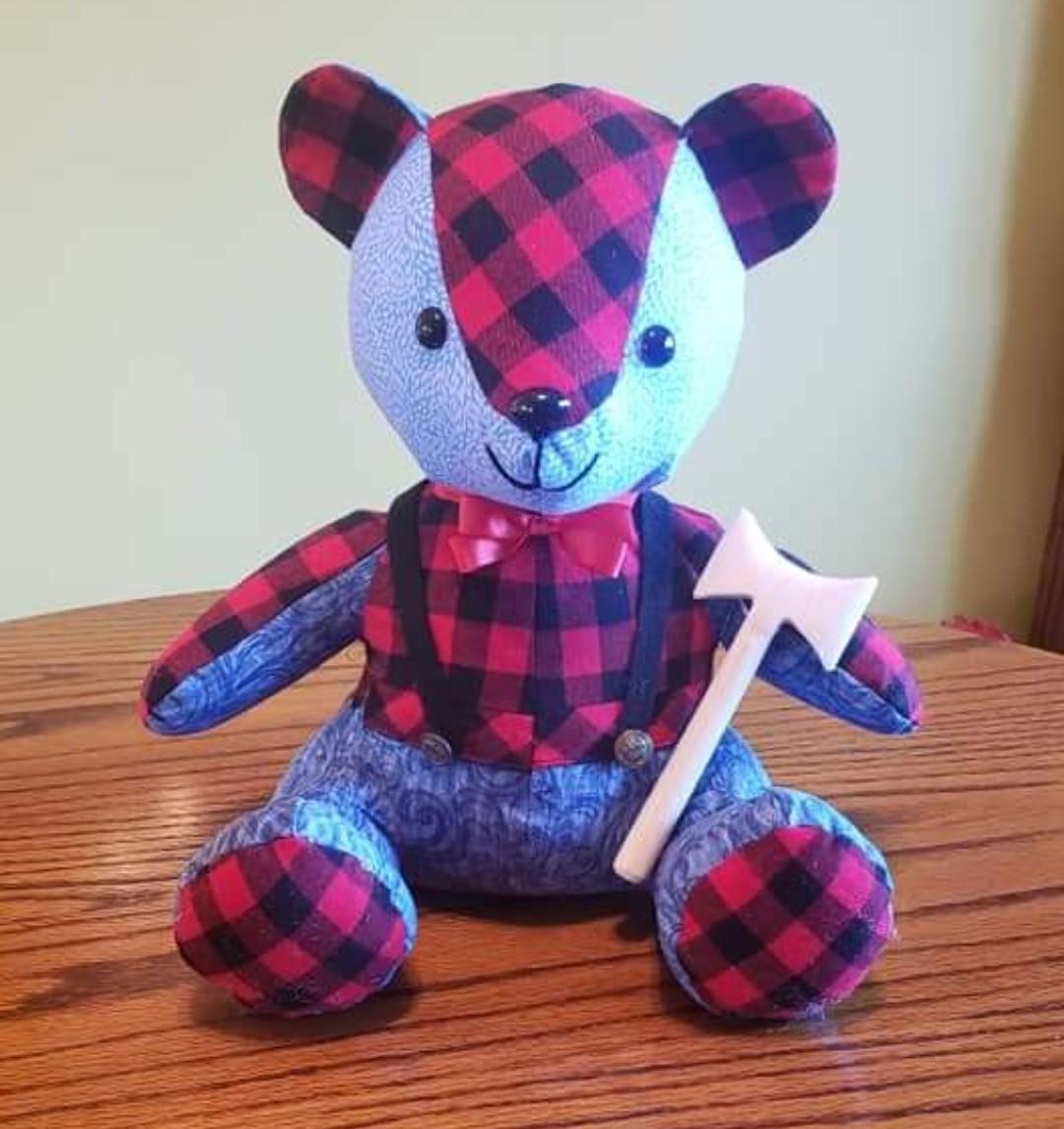 Melody Bear pattern sewn by nancymciccosanti