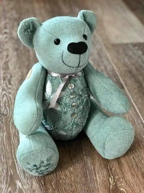 Calico Bear pattern sewn by rebeccametcalf