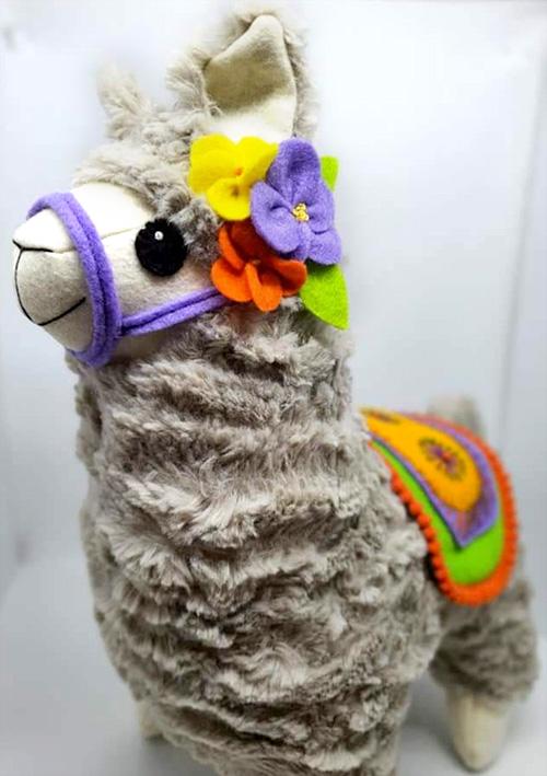 Alpaca llama Pattern sewn by KerrieMarkham