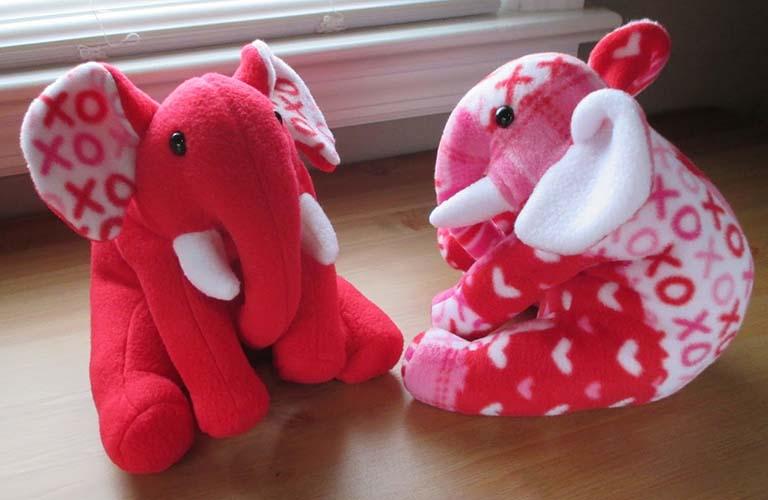 Ellie ELEPHANT pattern sewn by fleecemenagerie