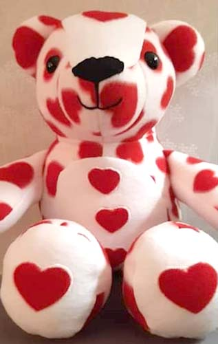 Keep me Keepsake Bear pattern sewn by Jaynecash