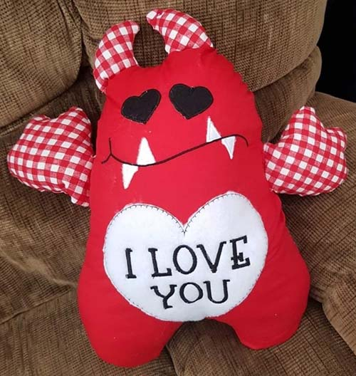 Love Monster pattern sewn by love SueKeetch