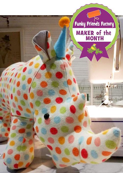 Rhino pattern sewn by ArjaEmilia