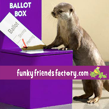 Want to VOTE for the next Funky Friends Factory toy pattern?