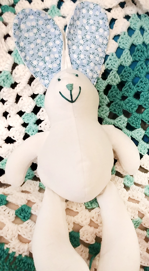 Baby Bunny sewn by Catherine Sutton