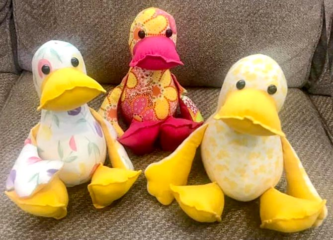 Duck sewing pattern sewn by Andrea Christiansen
