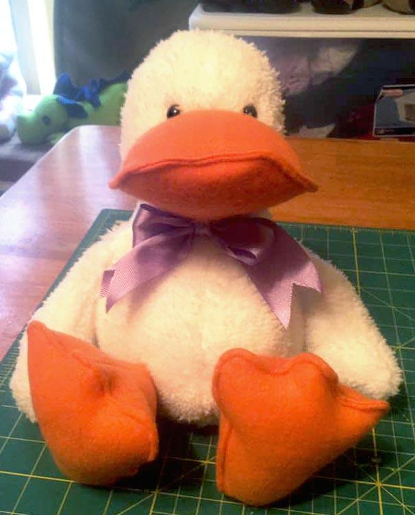 Duck sewing pattern sewn by Barbara Benson