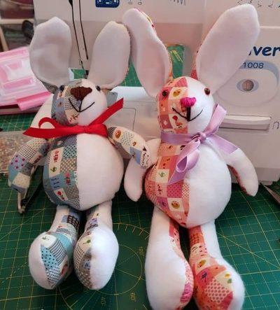 Baby bunny pattern sewn by Nina T.