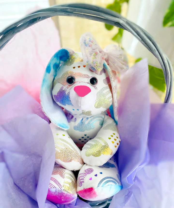Easter Bunny sewing pattern sewn by Ahleigh Ray