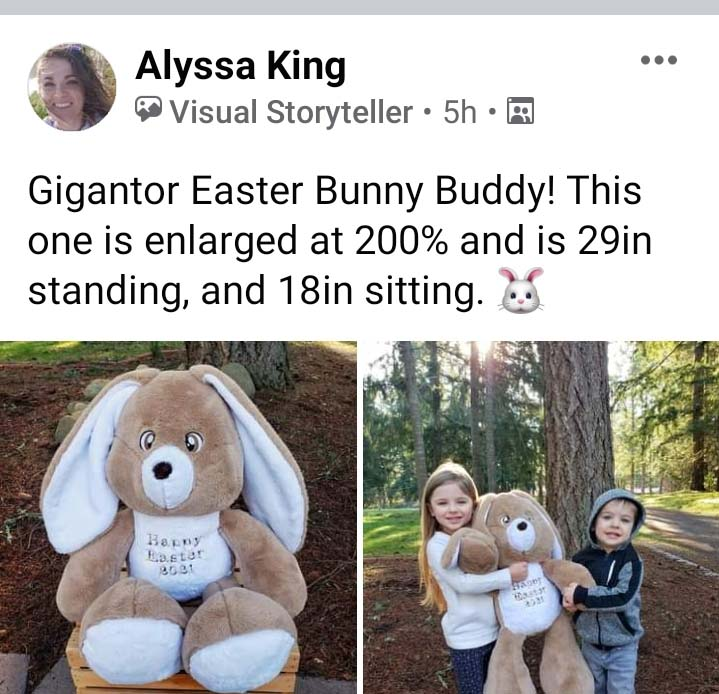Easter Bunny sewing pattern sewn by AlyssaKing