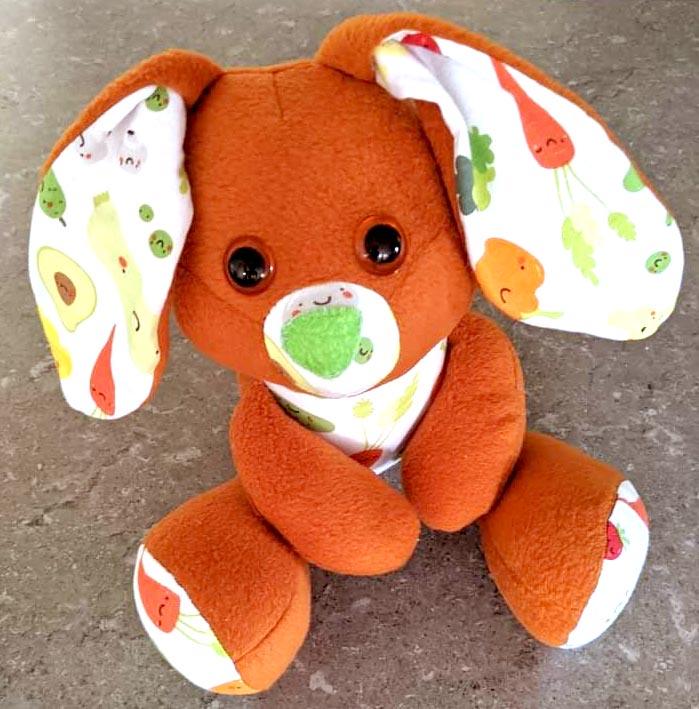 Easter Bunny sewing pattern sewn by Debra Fforde