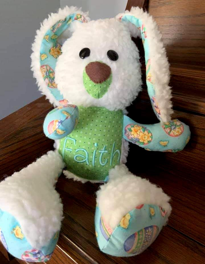 Easter Bunny sewing pattern sewn by Linda Grace