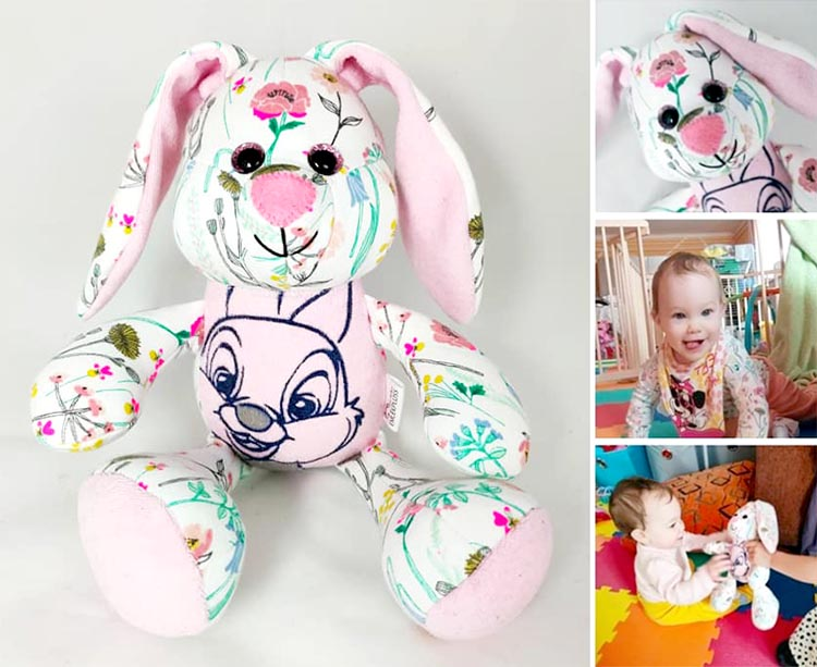 Easter Bunny sewing pattern sewn by Orsolya Czili