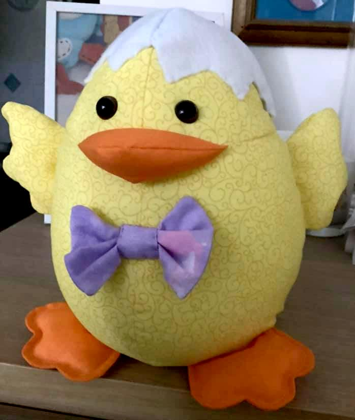 Easter Chick sewn by Megan Lowndes