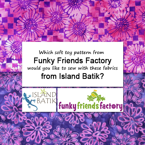 Win a free pattern & Fabric from Funky Friends Factory