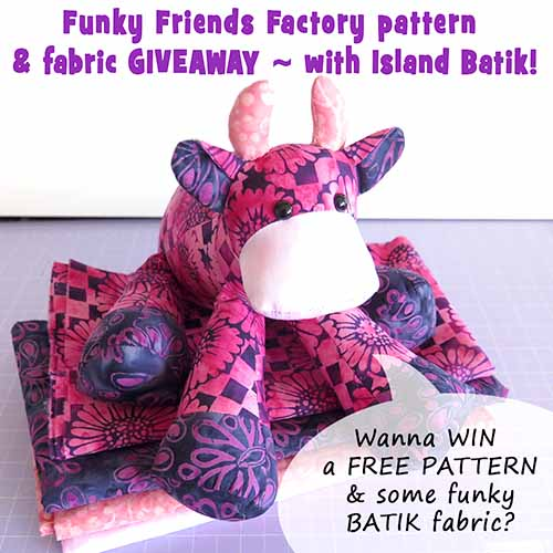 Funky FABRIC GIVEAWAY with Island Batik!