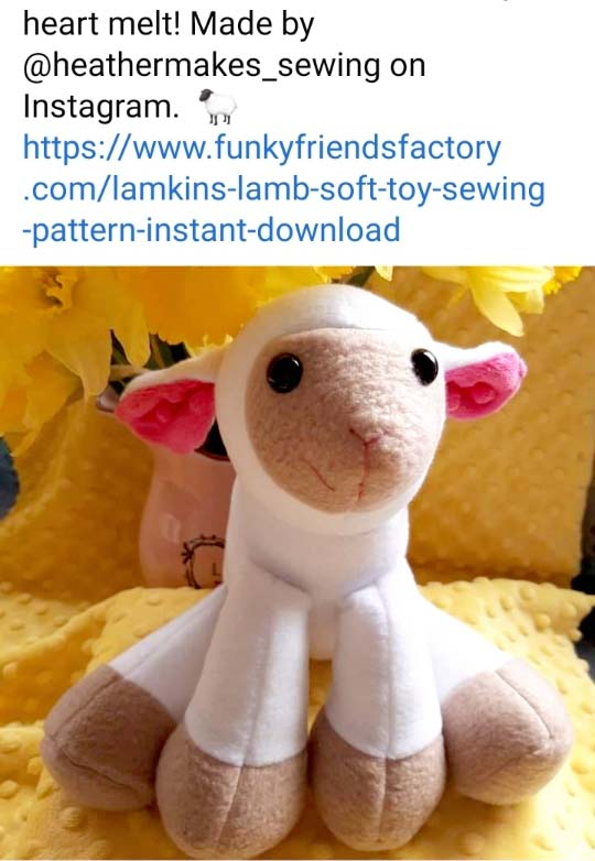 Lamb sewing pattern sewn by heathermakes_sewing