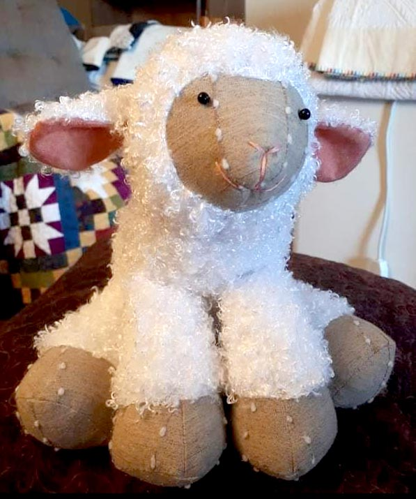 Lamkins lamb pattern sewn by Cathy Price