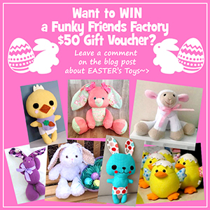 Easter SEWING COMPETITION – WIN a FREE Funky Friends Factory Pattern!