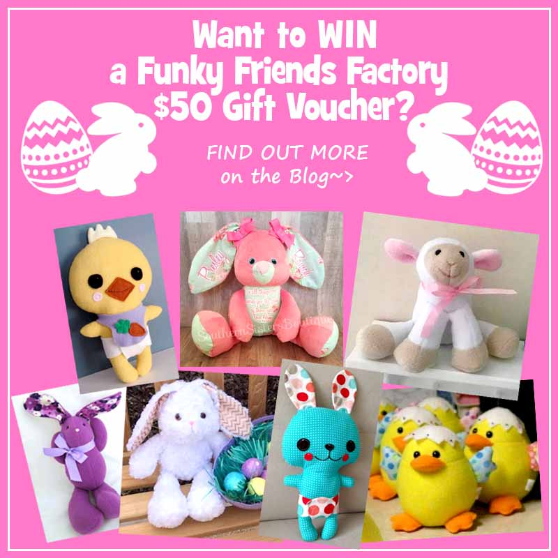 WIN a Funky Friends Factory Pattern Gift Voucher
