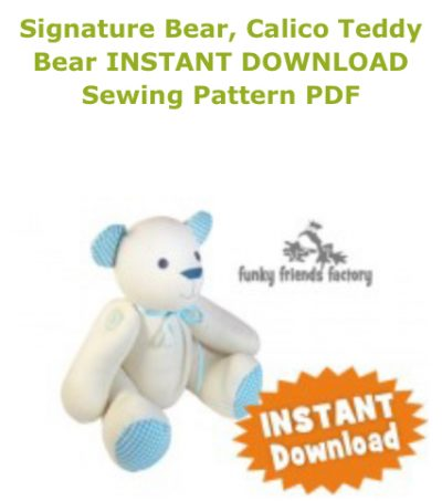 Calico signature bear pattern cover