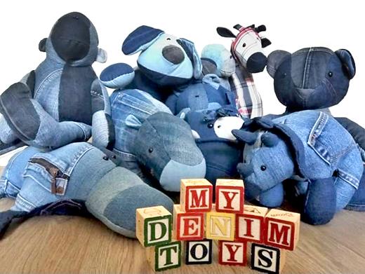 Denim toys sewn by Sarahkilshaw