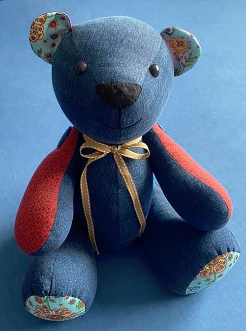 memory bear pattern sewn by KarenCronje