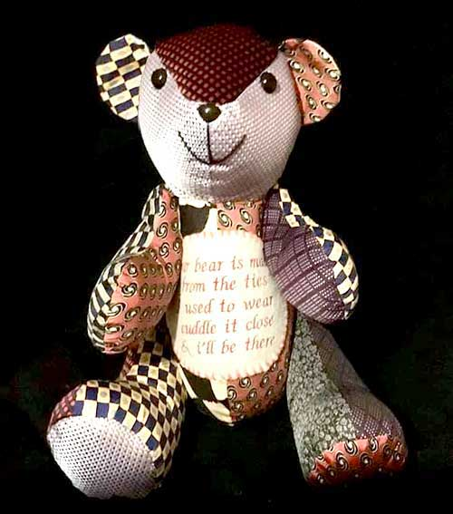 Calico-Bear-sewn-as-a-memory-bear-from-neck-ties-by-SusanHunter