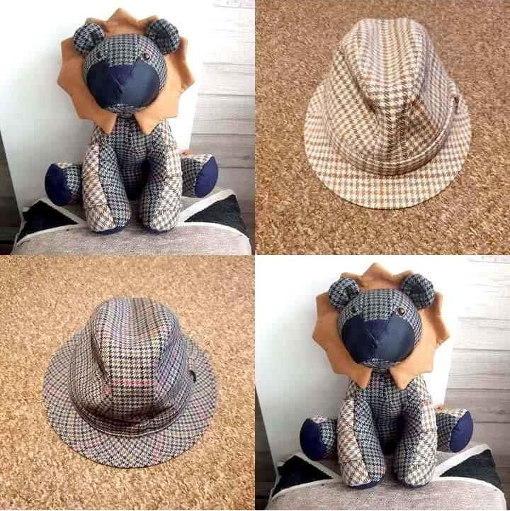 Larry Lion Pattern sewn by Elaine Chaplin
