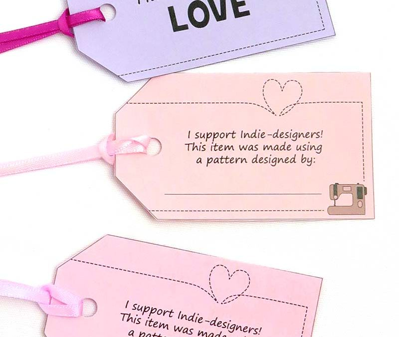 EASY Printable Tags for Handmade Toys (free copyright credit labels!)