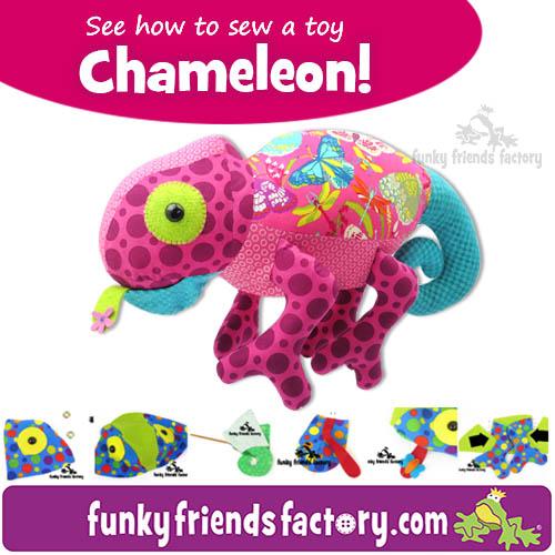 Chameleon Pattern Photo tutorial collage