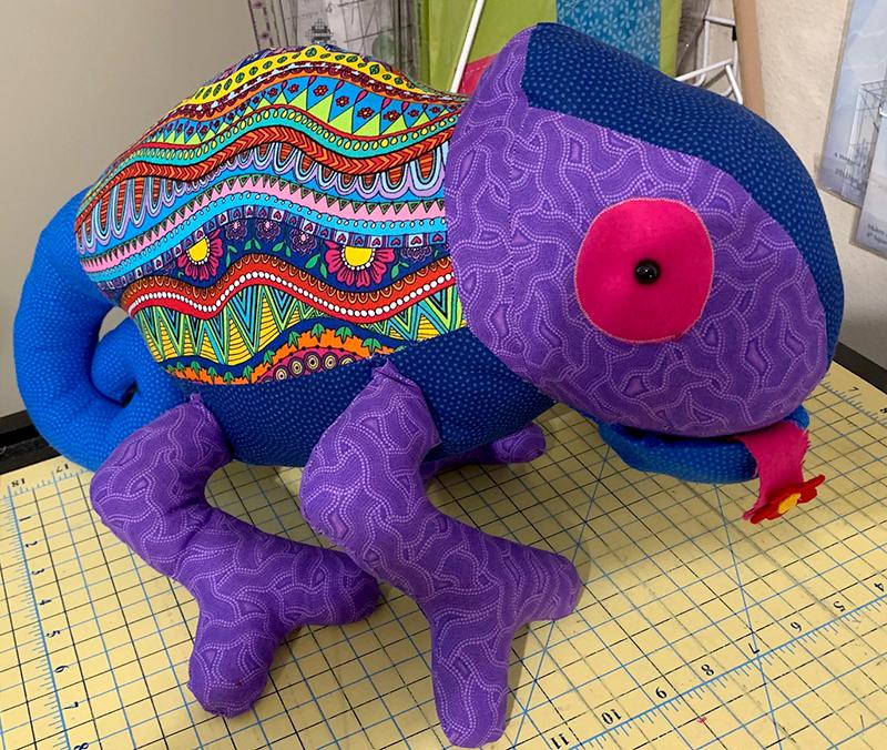 Chameleon Pattern sewn by Flora Schumacher