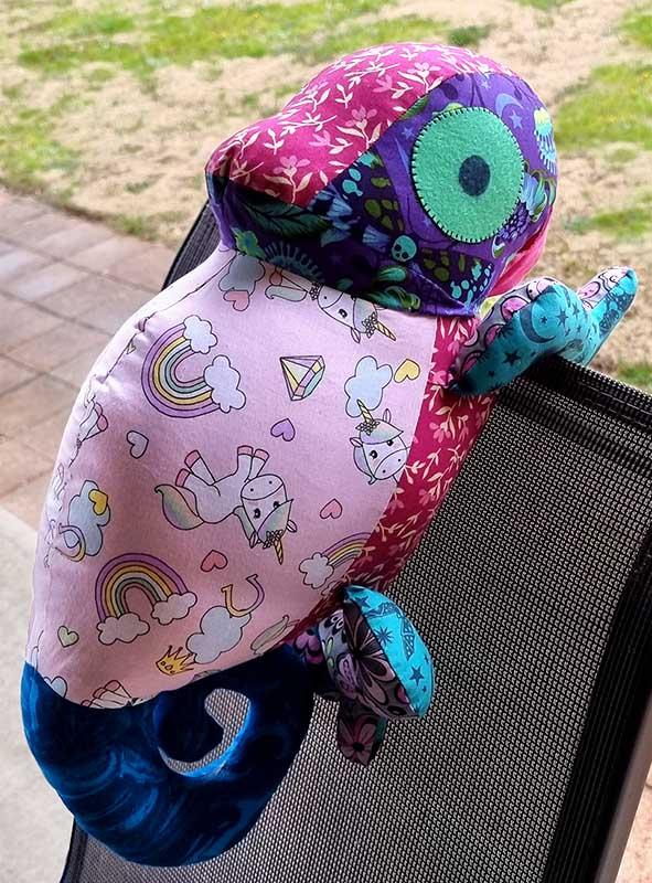 Chameleon Pattern sewn by Francine B