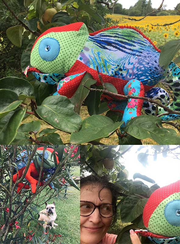 Chameleon Pattern sewn by Isobelle Andreo