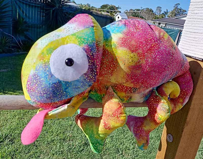 Chameleon Pattern sewn by Jacquie Hancock - Sewn Bears & Buddies