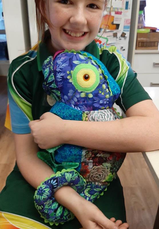 Chameleon Pattern sewn by Jane Jehne