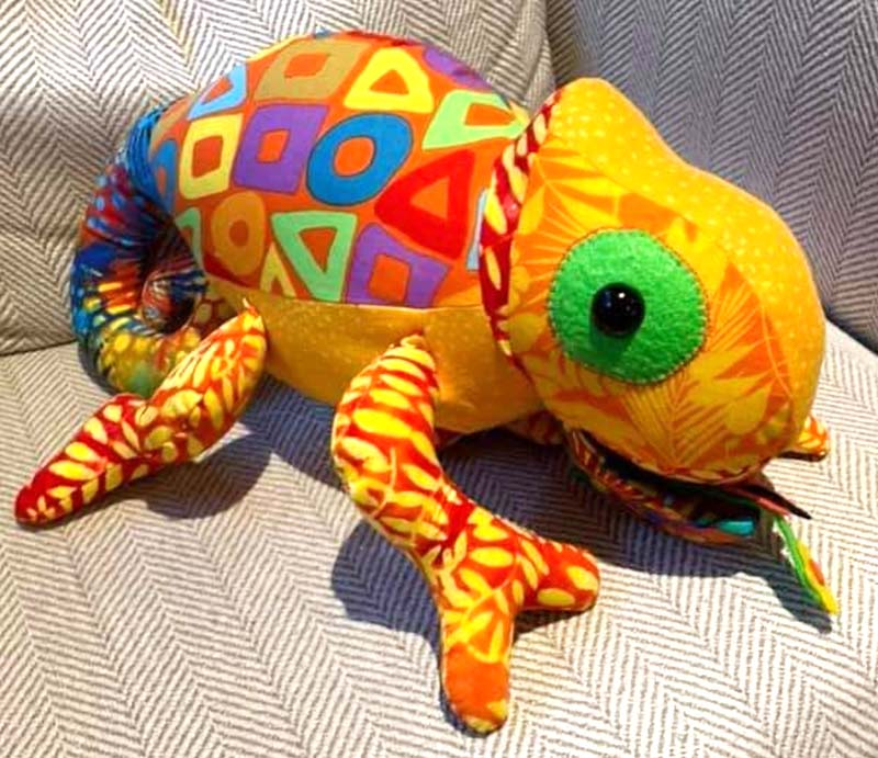 Chameleon Pattern sewn by Lisa French