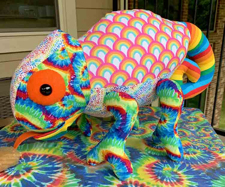 Chameleon Pattern sewn by Pat Ares