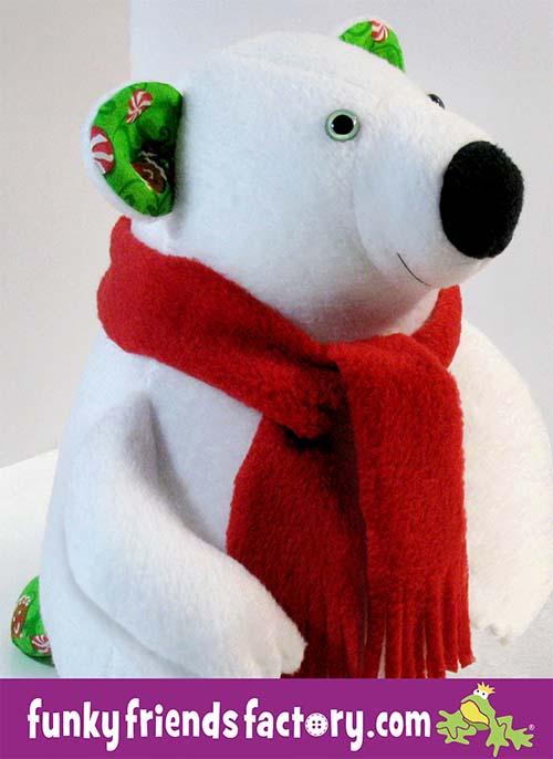 Preston Polar Bear Pattern sewn in fleece