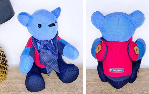 Calico-uniform-bear-Sewn-by-Jasmin-Hutchinson-