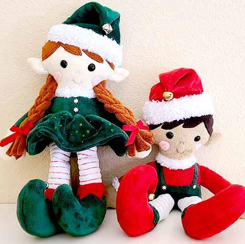 Elves elf pattern sewn in Cuddle LindsayDickason
