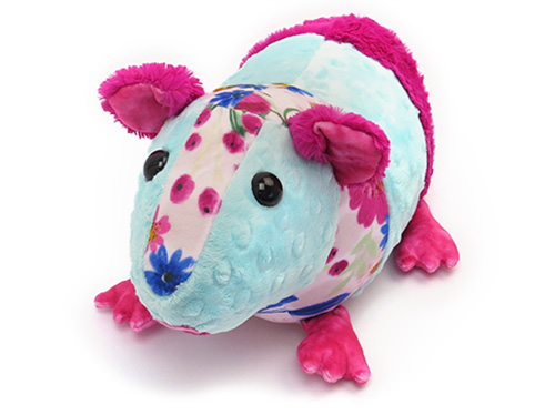 Gertrude Guinea Pig Pattern sewn in Shannon Cuddle fabric
