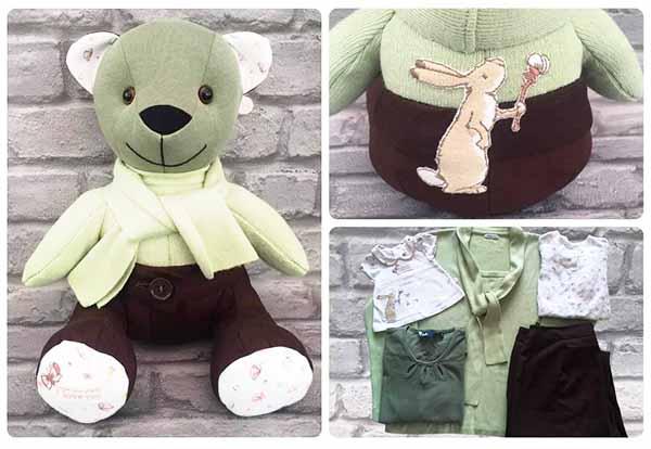 Melody Memory Bear keepsake sewn by HelenBailey