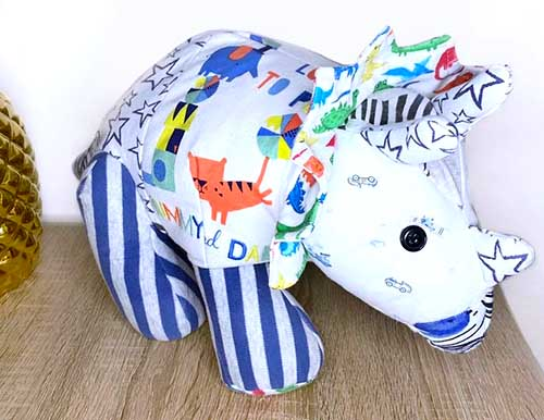 Trixie Triceratops sewn as a Keepsake by Jasmin2b